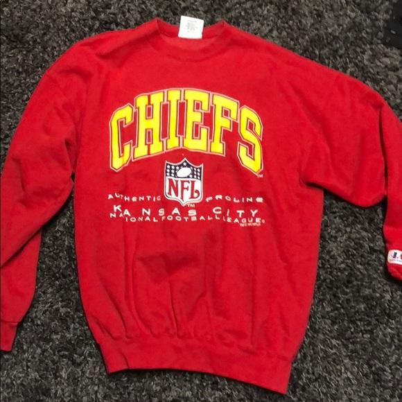 2a02fb52 Retro Kansas City chiefs crewneck sweatshirt